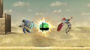 Meta Knight y Roy junto a una Bola Smash falsa SSBU.jpg