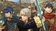 Marth, Daraen e Ike en el Coliseo SSB4 (Wii U).png