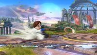 Espadachín Mii lanzando un Chakram en Super Smash Bros. for Wii U
