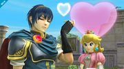 Marth y Peach en Skyloft - (SSB. for Wii U).jpg