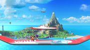 Aldeano y Olimar en Islas Wuhu SSB4 (Wii U).jpg