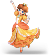 Art oficial de Daisy en Super Smash Bros. Ultimate