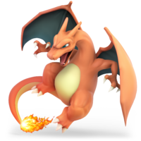 Art oficial de Charizard en Super Smash Bros. Ultimate.