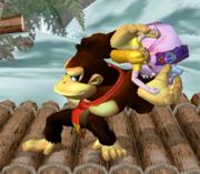 Lanzamiento trasero de Donkey Kong (3) SSBM.png