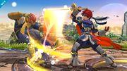 Roy atacando a Captain Falcon SSB4 (Wii U).jpg