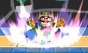 Lanzamiento hacia abajo de Wario (1) SSB4 (3DS).JPG