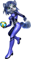 Art oficial de Krystal en Star Fox Assault.