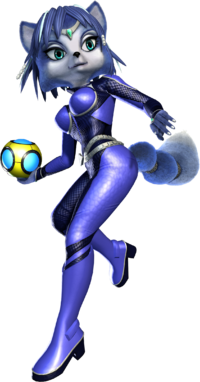 Art oficial de Krystal en Star Fox Assault