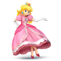 Art Oficial de Peach en Super Smash Bros. para Nintendo 3DS y Wii U