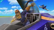 Captain Falcon saliendo del Blue Falcon SSB4 (Wii U).jpg