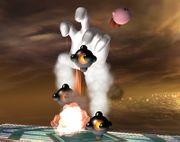 Crazy Hand tirando bombas SSBB.jpg