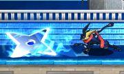 Greninja usando Shuriken de agua SSB4 (3DS).jpg