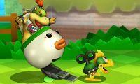 Bowsy lanzando un Mechakoopa en Super Smash Bros. para Nintendo 3DS.