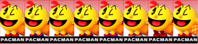 Paleta de colores de Pac-Man (JAP) SSB4 (3DS).png