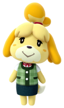 Art oficial de Canela en Animal Crossing: amiibo Festival
