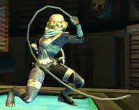 Sheik usando la cadena en Super Smash Bros. Brawl