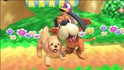 Nintendog junto a Duo Duck Hunt en SSBU.jpg