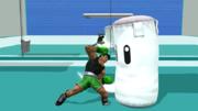 Saco de arena siendo atacado por Little Mac SSB4 (Wii U).png