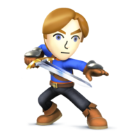 Art Oficial del Espadachin Mii en Super Smash Bros. for Nintendo 3DS / Wii U
