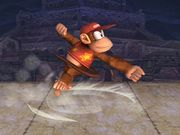 Ataque Smash lateral Diddy Kong SSBB.jpg