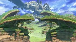 Vista general del escenario en Super Smash Bros. Ultimate.
