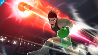 Little Mac usando el Directo concentrado en Super Smash Bros. para Wii U