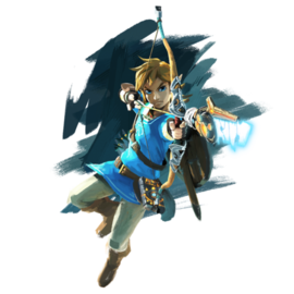 Art oficial de Link en The Legend of Zelda: Breath of the Wild