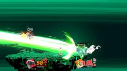 R.O.B. usando Láseres Robo guiados en Super Smash Bros. Ultimate