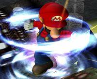 El Tornado Mario en Super Smash Bros. Melee.