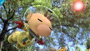 Olimar cayendo en el Vergel la Esperanza SSB4 (Wii U).jpg