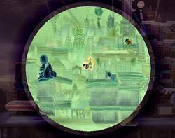 Luigi usando la Zona negativa en Super Smash Bros. Brawl