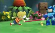 Lucas agarrando a Mega Man en el Gran ataque de las Cavernas.png