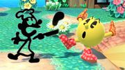 Pac-Man y Mr. Game & Watch en Isla Tórtimer SSBU.jpg