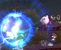 Pikachu usando Placaje eléctrico en Super Smash Bros. Brawl