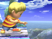 Ataque Smash inferior Lucas SSBB (4).png