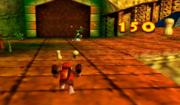 Diddy Kong usando la Cacahuetola en Donkey Kong 64.png