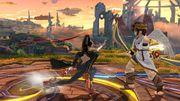 Agarre en Carrera Bayonetta SSB Wii U.jpg