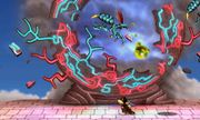 KiHunter atacando a Duck Hunt con acido en Smashventura SSB4 (3DS).jpg