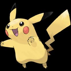 Diseño de Pikachu en Pokémon Rubí Omega y Zafiro Alfa