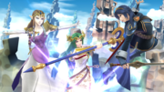 Zelda, Palutena y Lucina en el Reino Champiñón U SSB4 (Wii U).png