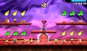 Mario alrededor de varios potenciadores y comida en el Smashventura.png