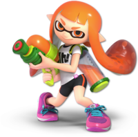 Art oficial de la inkling chica en Super Smash Bros. Ultimate
