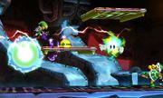 Toon Link en la Smashventura frente a un Hermano Martillo SSB4 (3DS).jpg