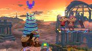 Donkey Kong siendo agarrado por el Jefe Galaga SSB4 (Wii U).jpg