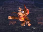 Ataque aéreo trasero Diddy Kong SSBB.jpg