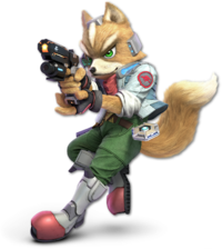 Art oficial de Fox en Super Smash Bros. Ultimate