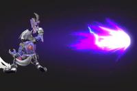 Vista previa del Blaster de Wolf en la sección de Técnicas de Super Smash Bros. Ultimate