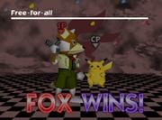 Pose de victoria de Fox (3-2) SSB.png