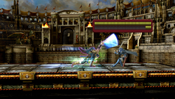 Marth usando el Golpe crítico en Super Smash Bros. for Wii U