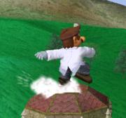 Ataque Smash hacia arriba de Dr. Mario SSBM.png